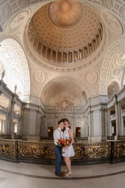 San Francisco Mayors Balcony Weddings